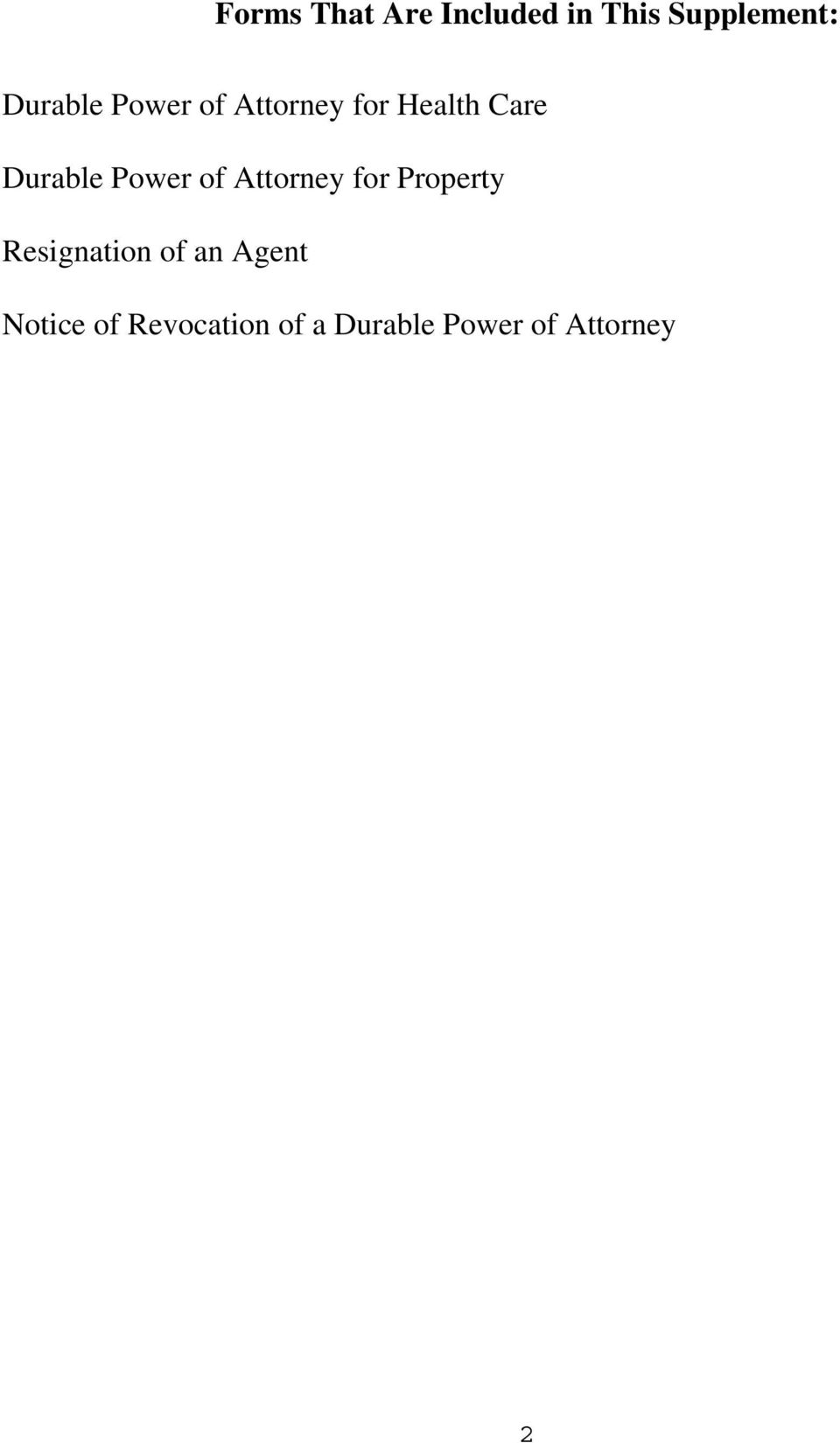 Power of Attorney for Property Resignation of an