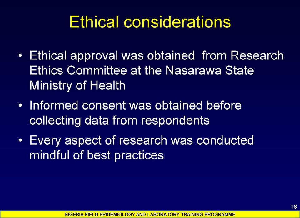 Health Informed consent was obtained before collecting data from