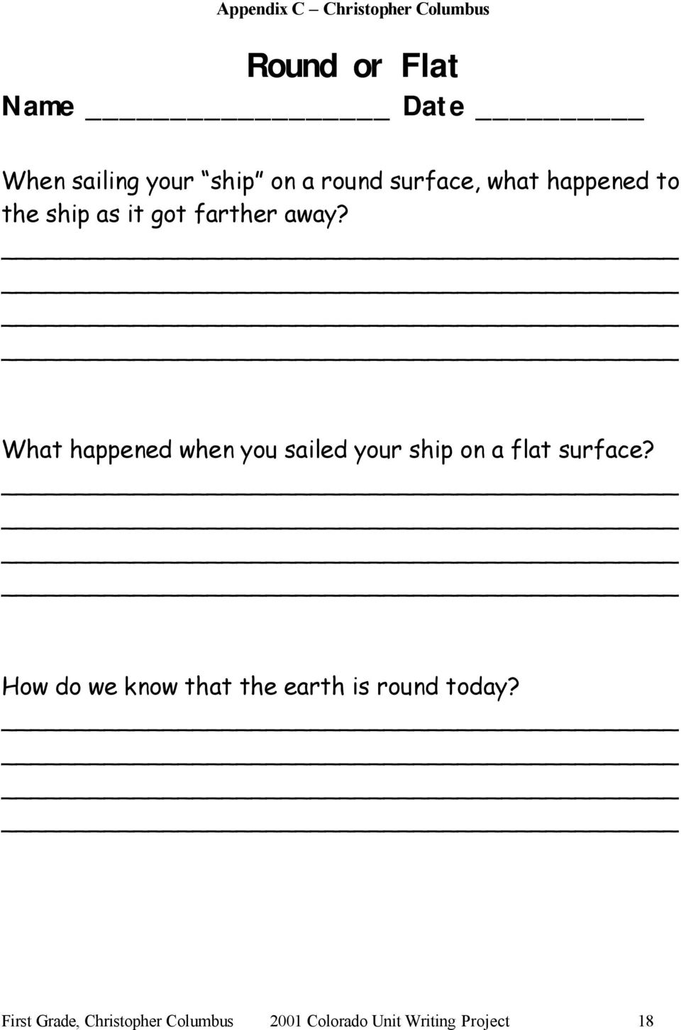 What happened when you sailed your ship on a flat surface?