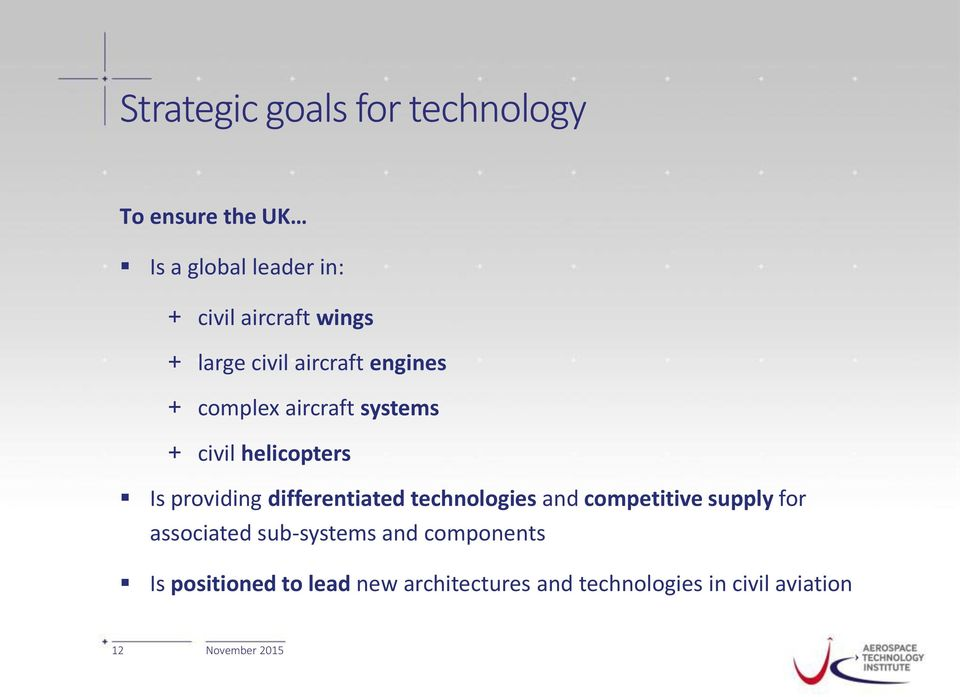 providing differentiated technologies and competitive supply for associated sub-systems
