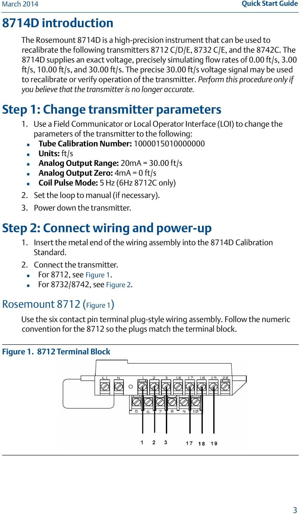 Rosemount 8732 Wiring Diagram - Wiring Diagram And Schematics