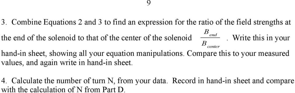 Write this in your hand-in sheet, showing all your equation manipulations.
