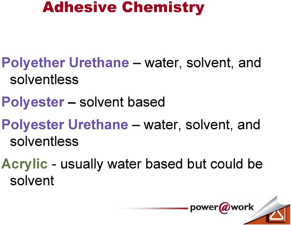 Polyester Urethane water, solvent, and