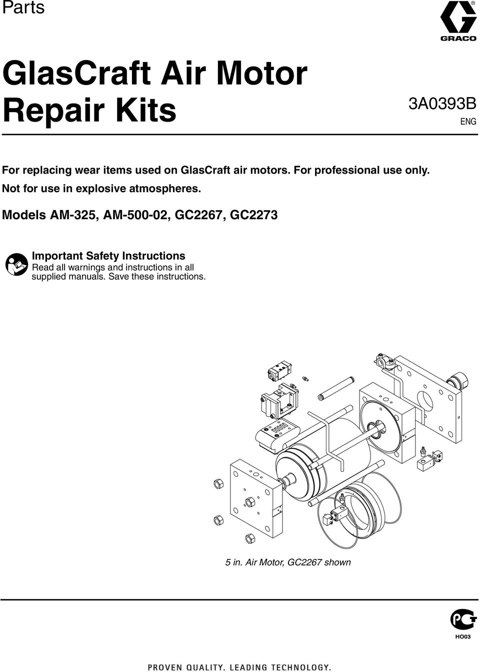Models M-325, M-500-02, GC2267, GC2273 Important S afety Instructions R e ad all w arn in g s
