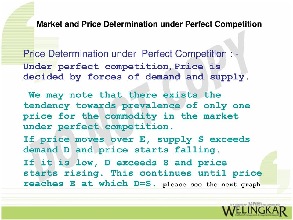 market under perfect competition.