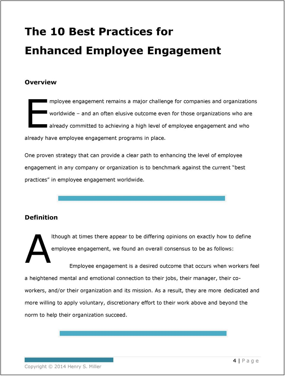 The 10 Best Practices for Enhanced Employee Engagement - PDF