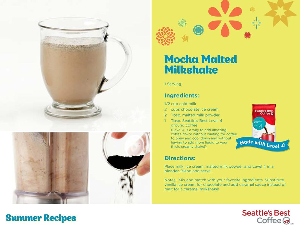 without having to add more liquid to your thick, creamy shake!) Made with Level 4!