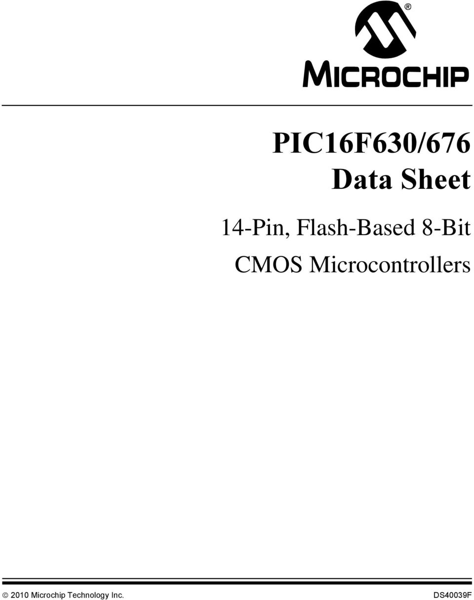 Microcontrollers 2010