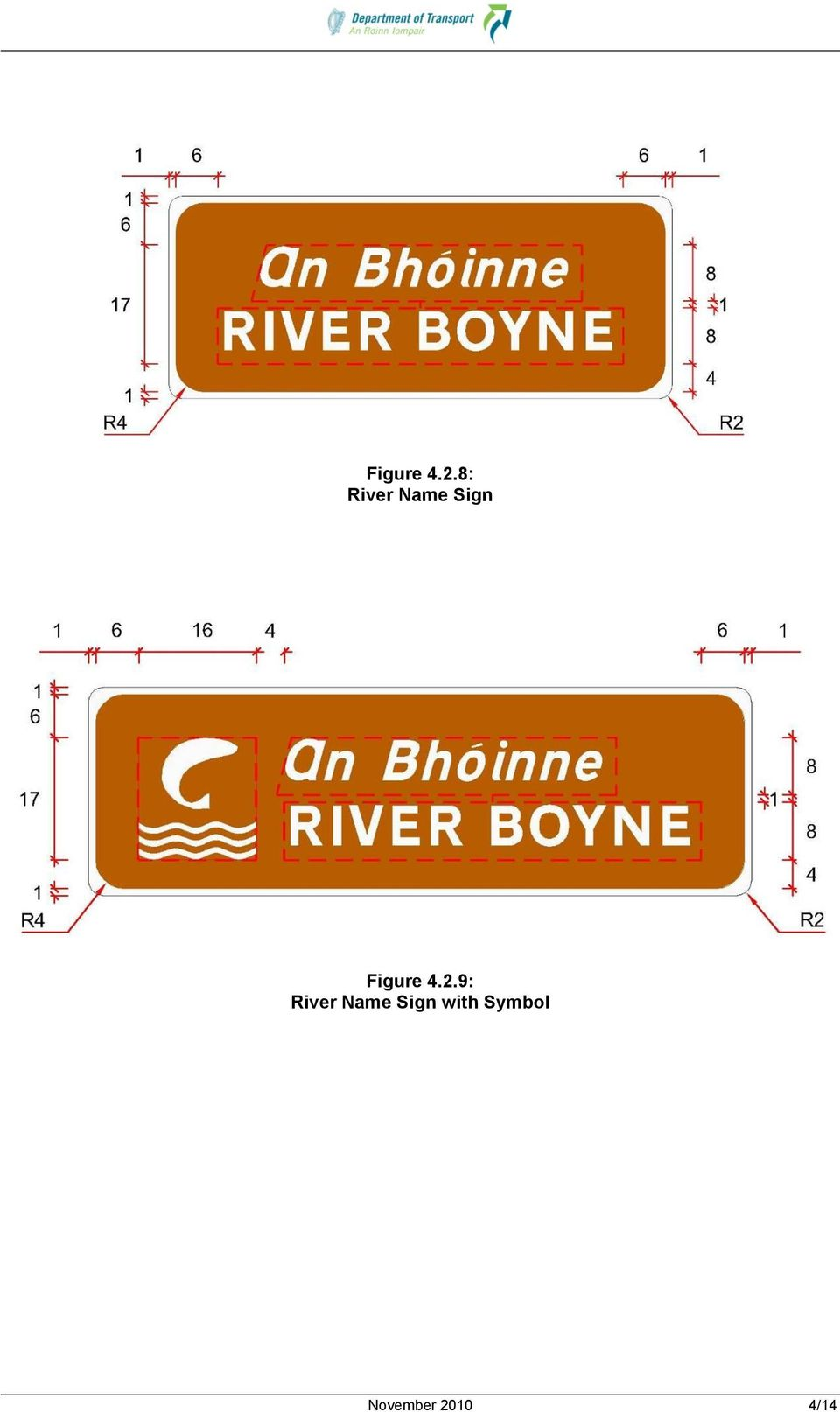 River Name Sign with