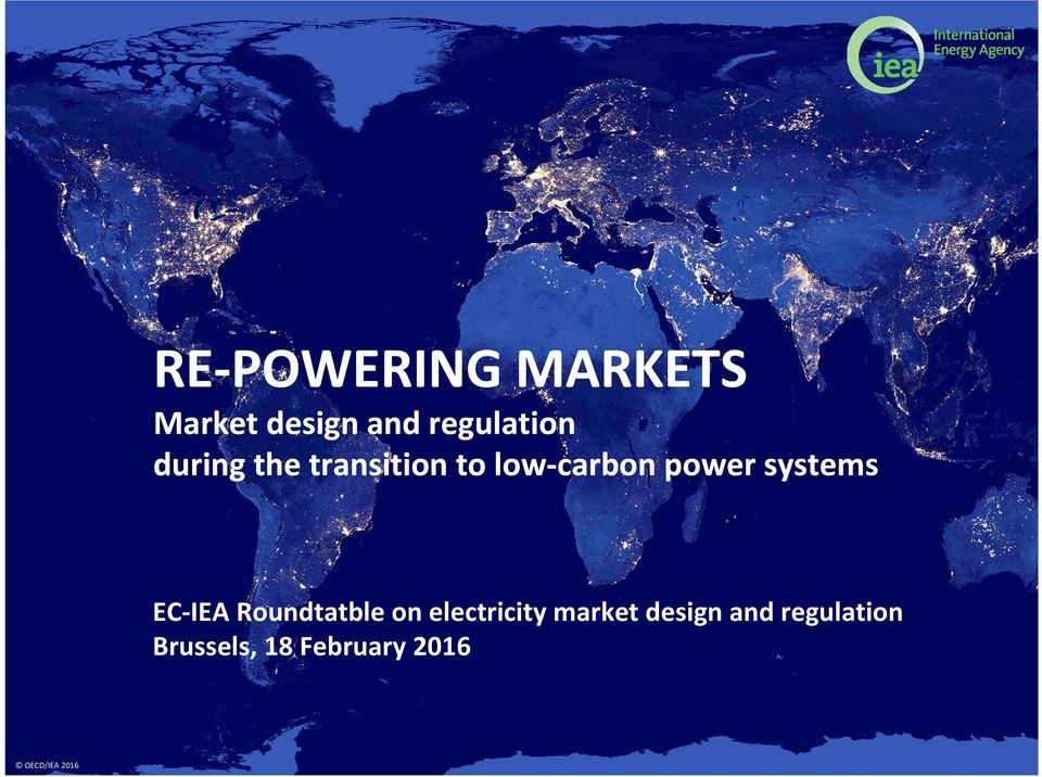 power systems EC-IEA Roundtatble on