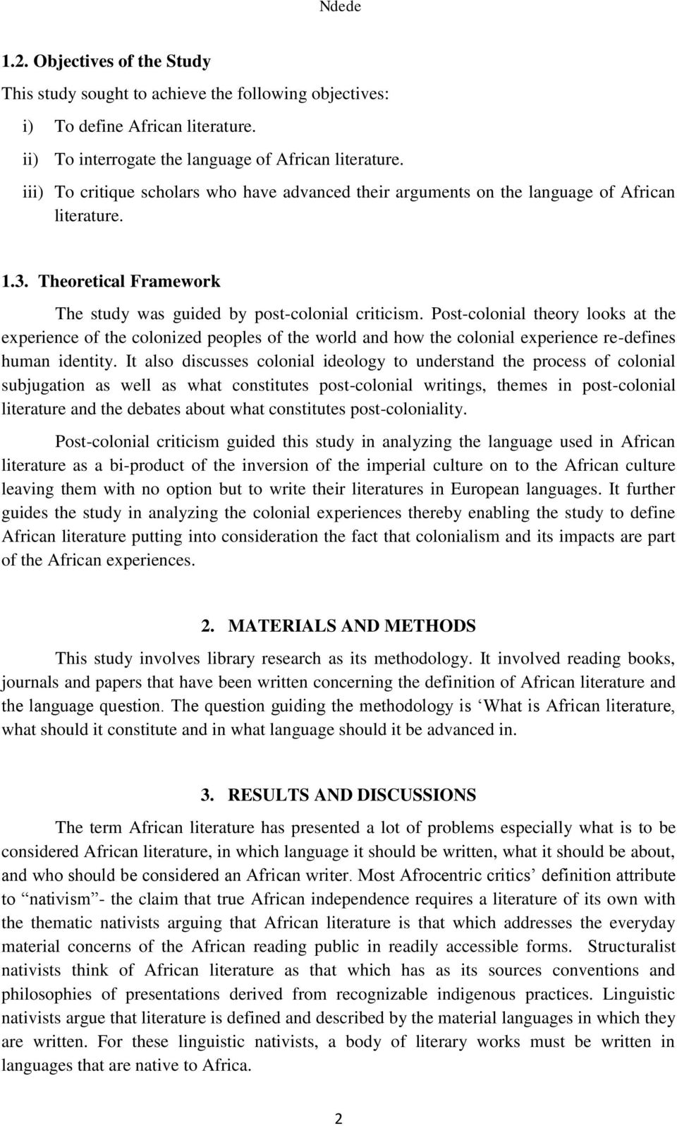 African Literature: Place, Language or Experience - PDF