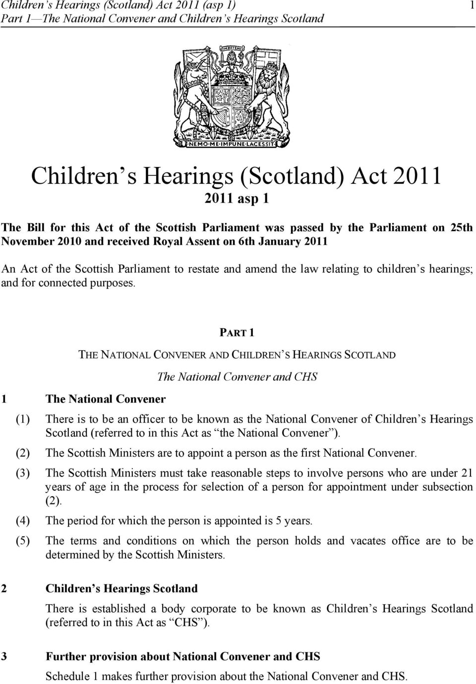 children s hearings; and for connected purposes.