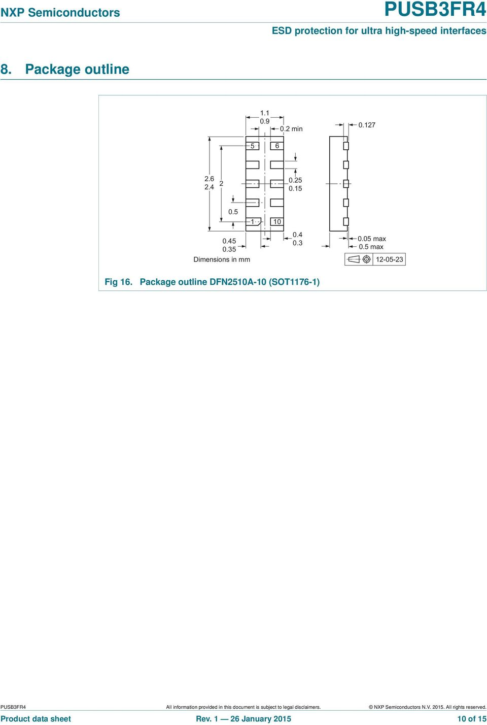 Package outline DFN251A-1 (SOT1176-1) All information provided in this document