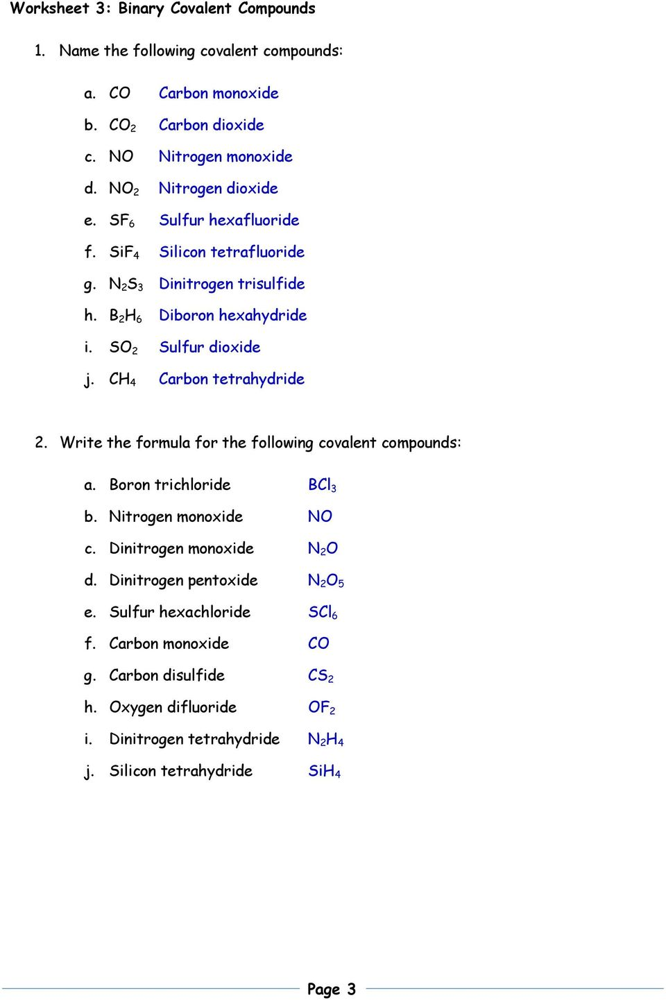 Free Worksheet Ionic And Molecular Compounds Worksheet Phinixi – Ionic Bonds Worksheet