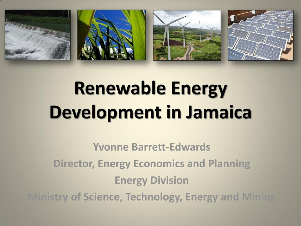 Economics and Planning Energy Division