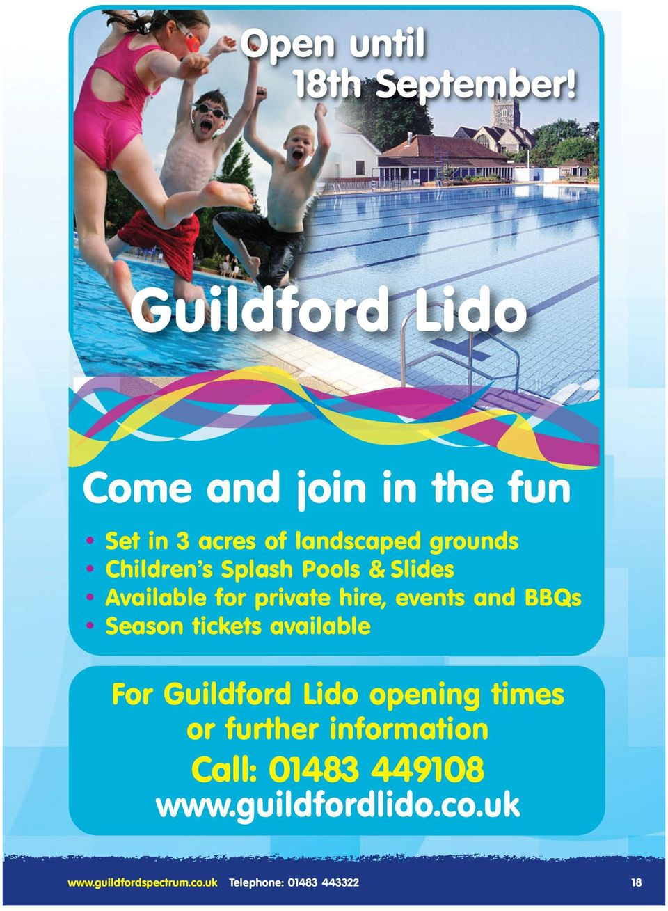 Splash Pools & Slides Available for private hire, events and BBQs Season tickets