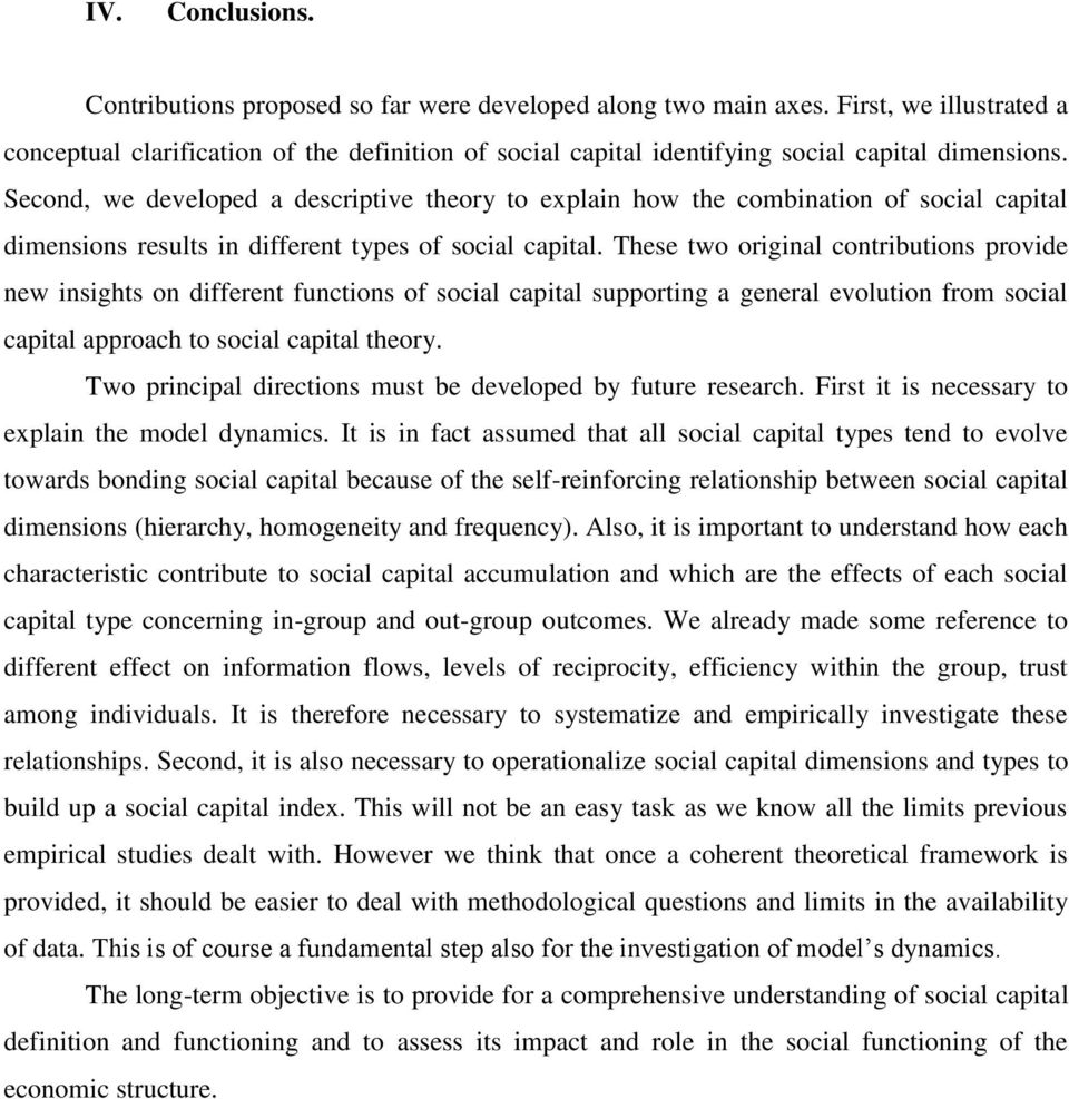 toward a theory of social capital definition: its dimensions and