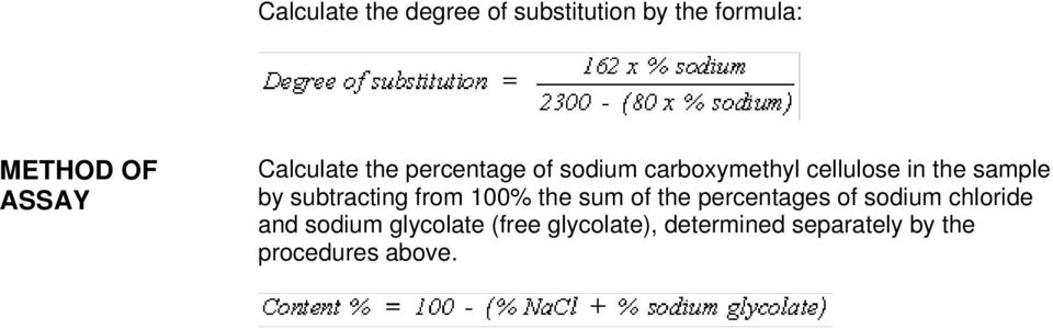 by subtracting from 100% the sum of the percentages of sodium chloride and