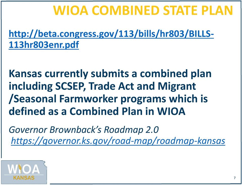 pdf Kansas currently submits a combined plan including SCSEP, Trade Act and