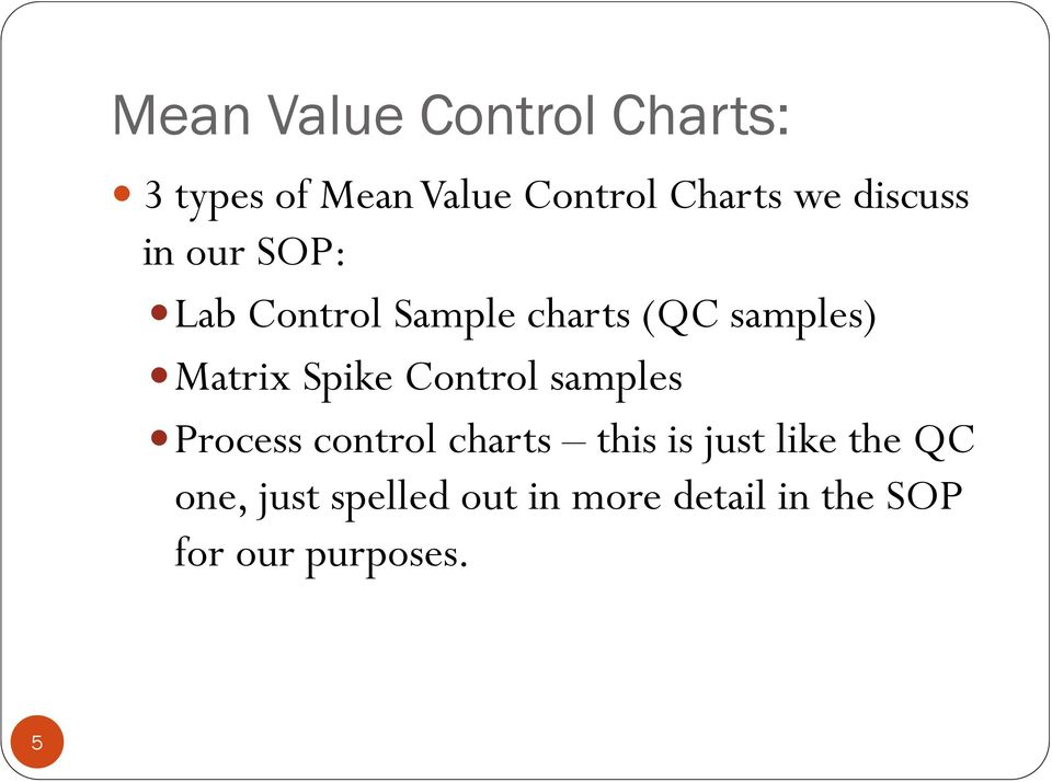 Spike Control samples Process control charts this is just like the