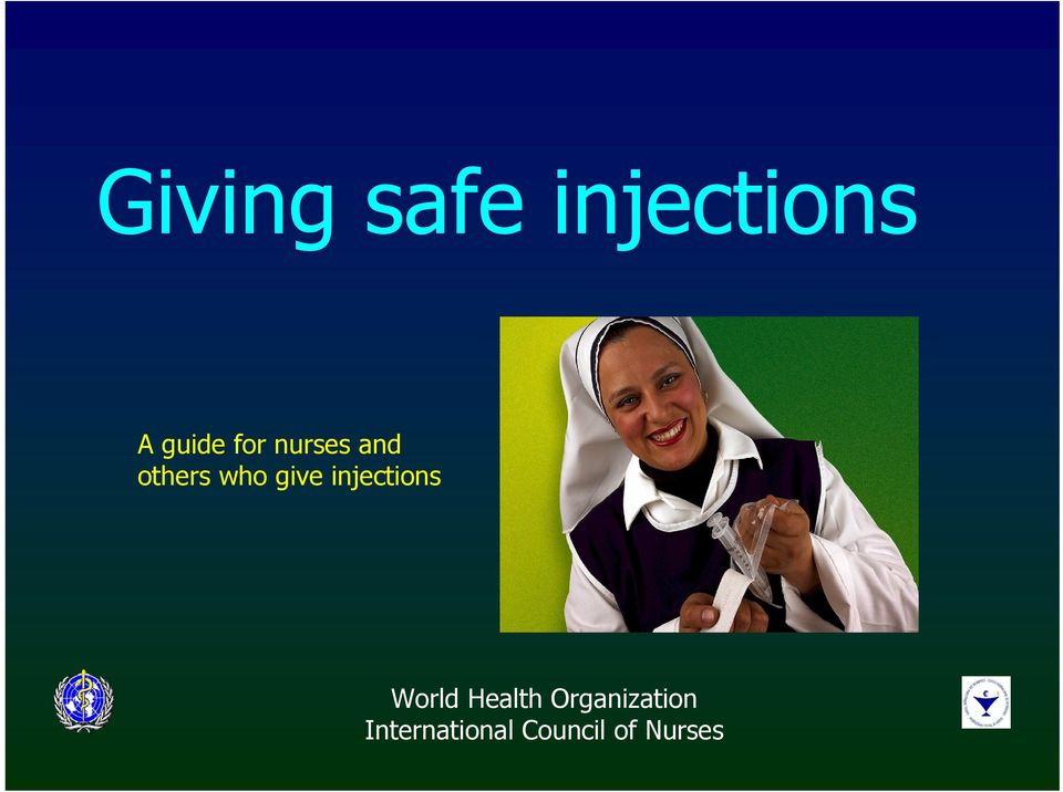 injections World Health