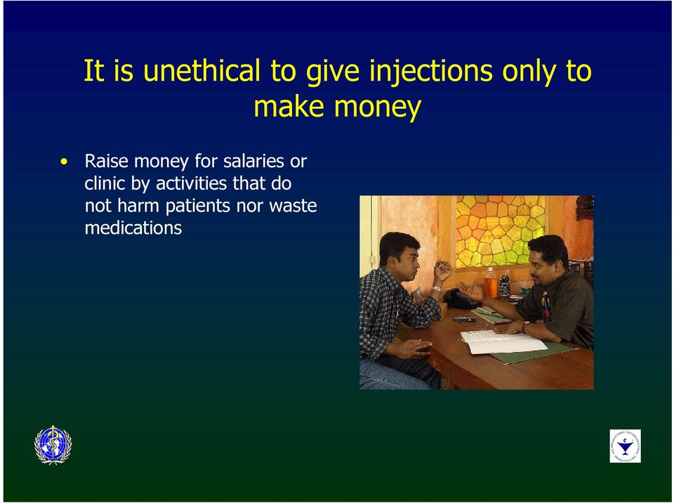 salaries or clinic by activities that