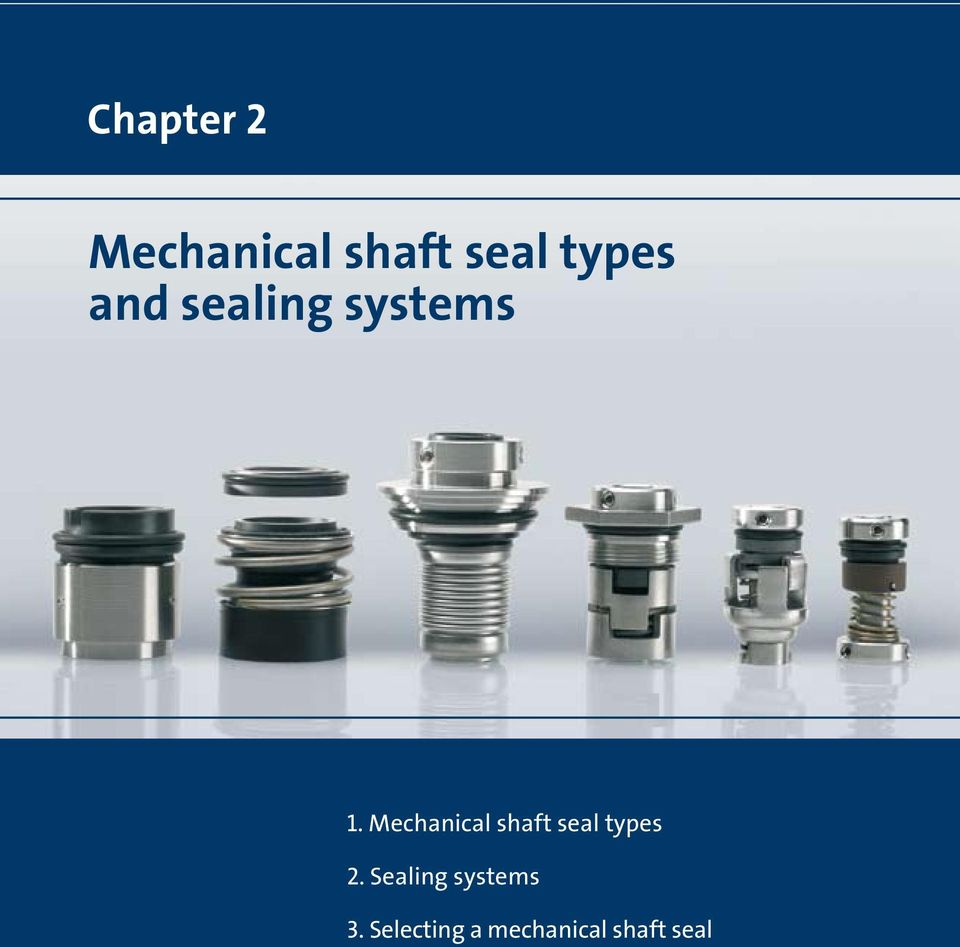 Mechanical shaft seal types 2.