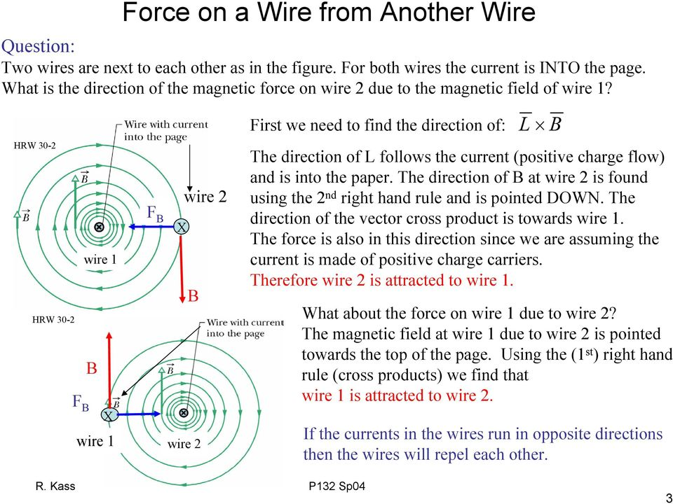 HW 3- F HW 3- wie 1 F wie 1 wie wie Fit we need to find the diection of: The diection of follow the cuent (poitive chage flow) and i into the pape.