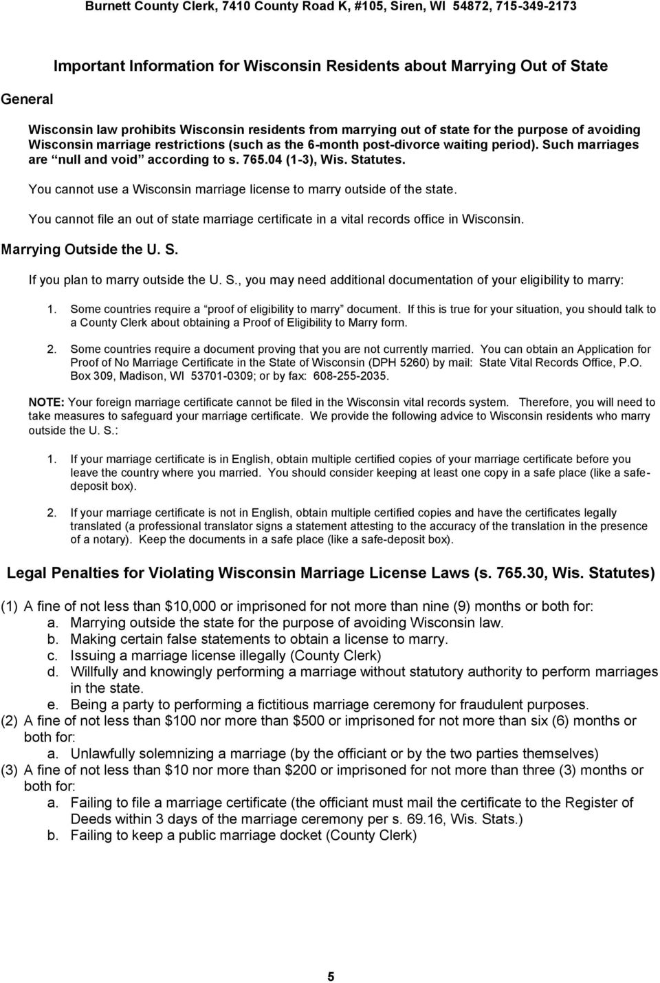 Information For Marriage Applicants And Officiants Pdf