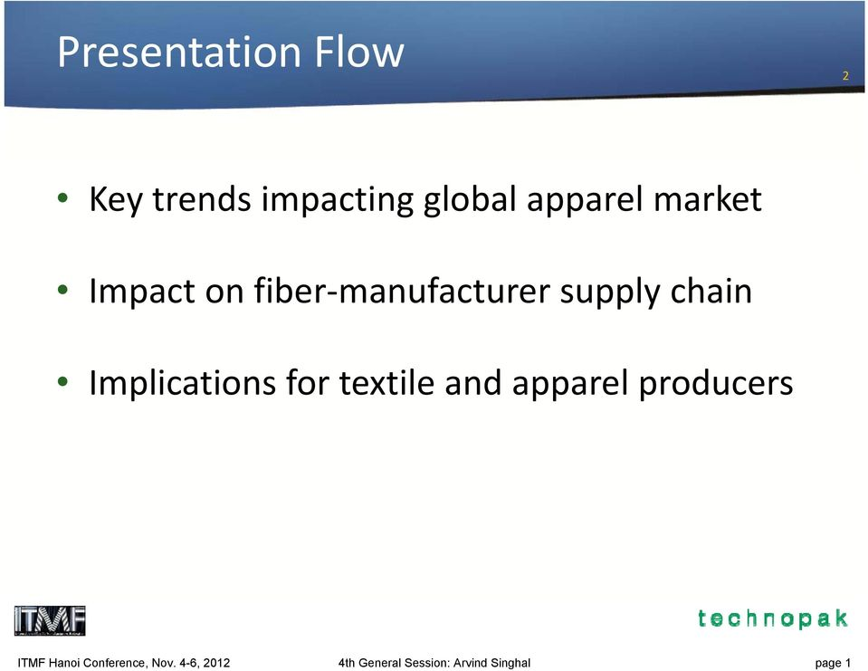 Implications for textile and apparel producers ITMF Hanoi