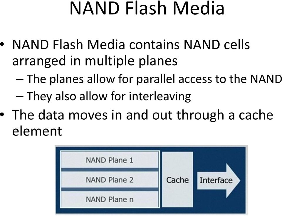 parallel access to the NAND They also allow for