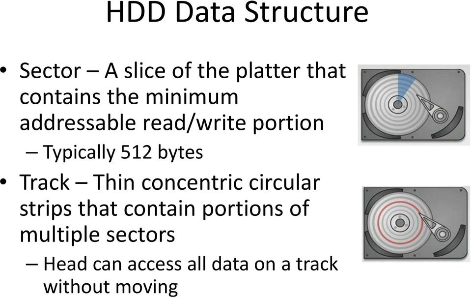 Track Thin concentric circular strips that contain portions of