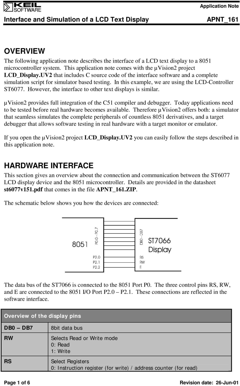 Interface And Simulation Of A Lcd Text Display Pdf Circuitdiagramtointerfaceglcdwith8051 However The To Other Displays Is Similar Vision2 Provides Full Integration
