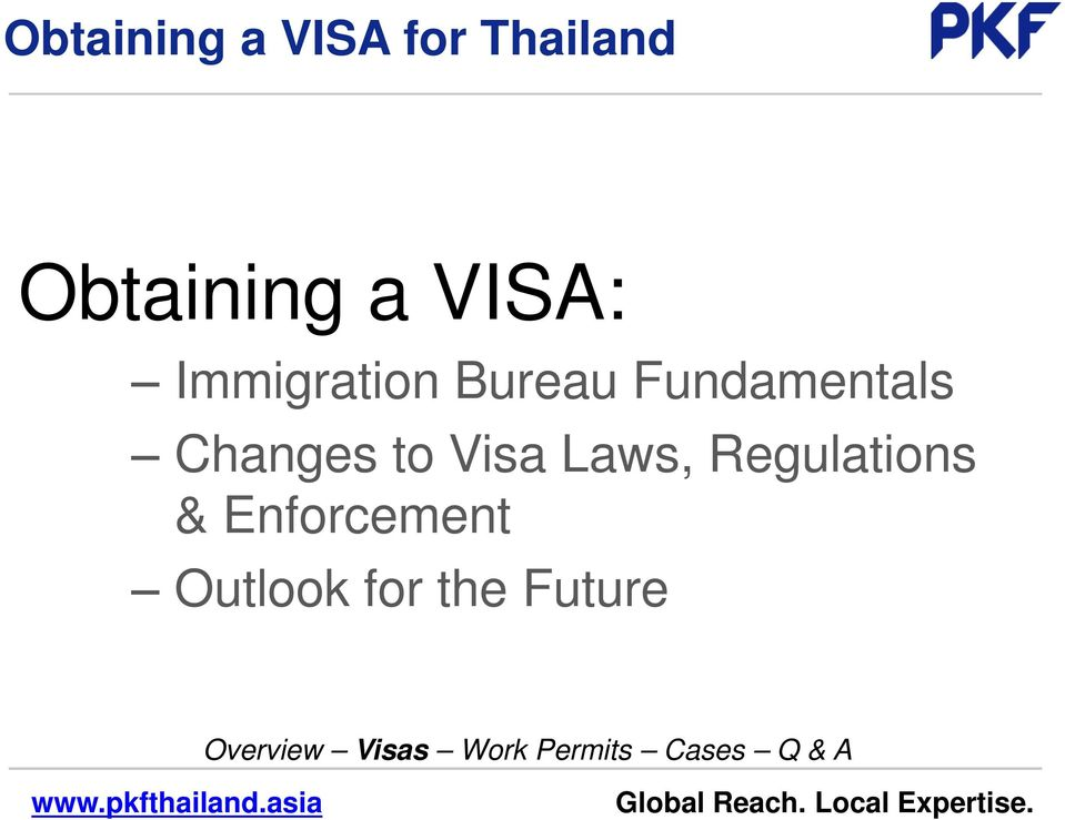 Fundamentals Changes to Visa Laws,