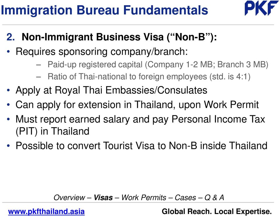 1-2 MB; Branch 3 MB) Ratio of Thai-national to foreign employees (std.
