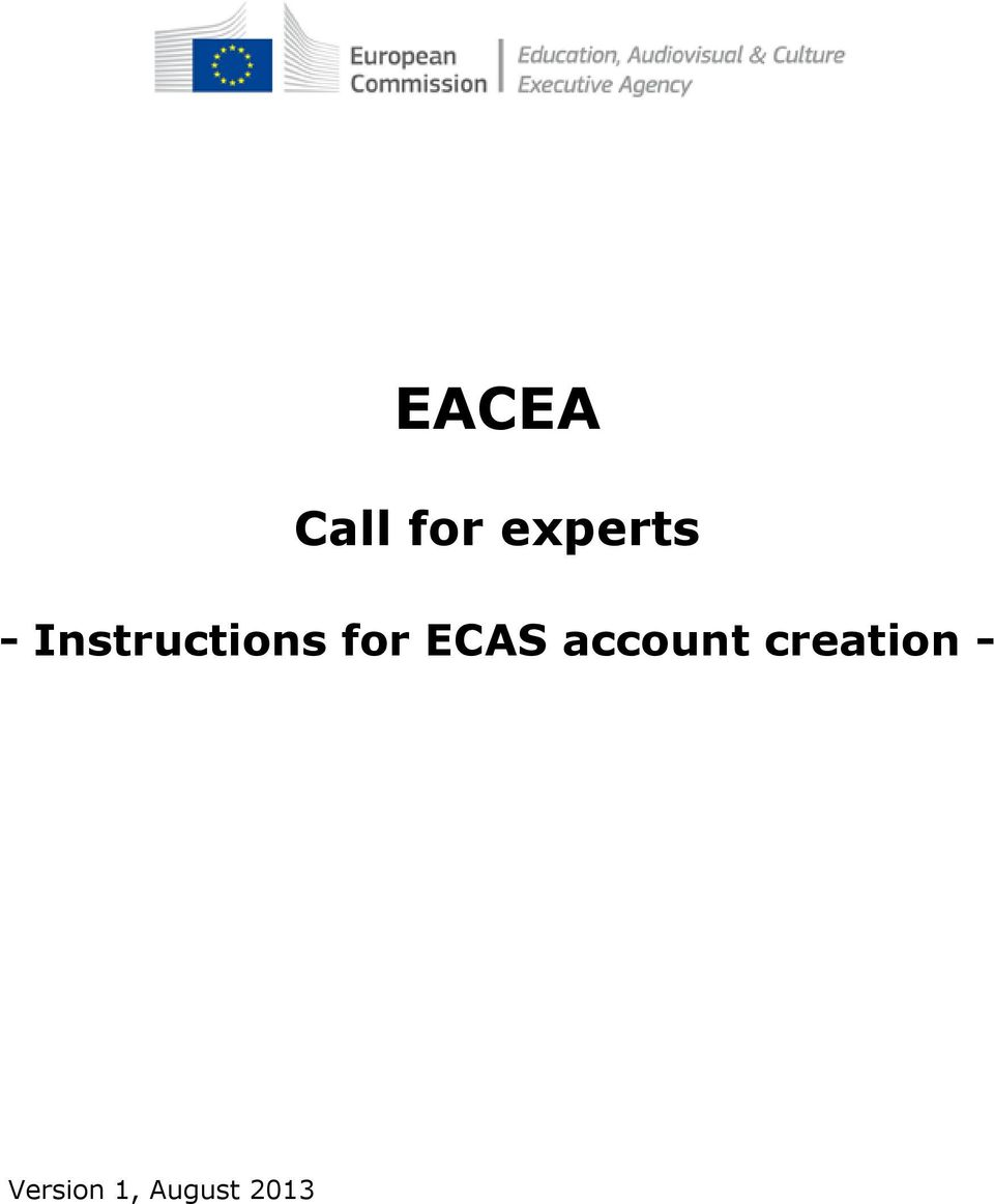 Instructions for ECAS