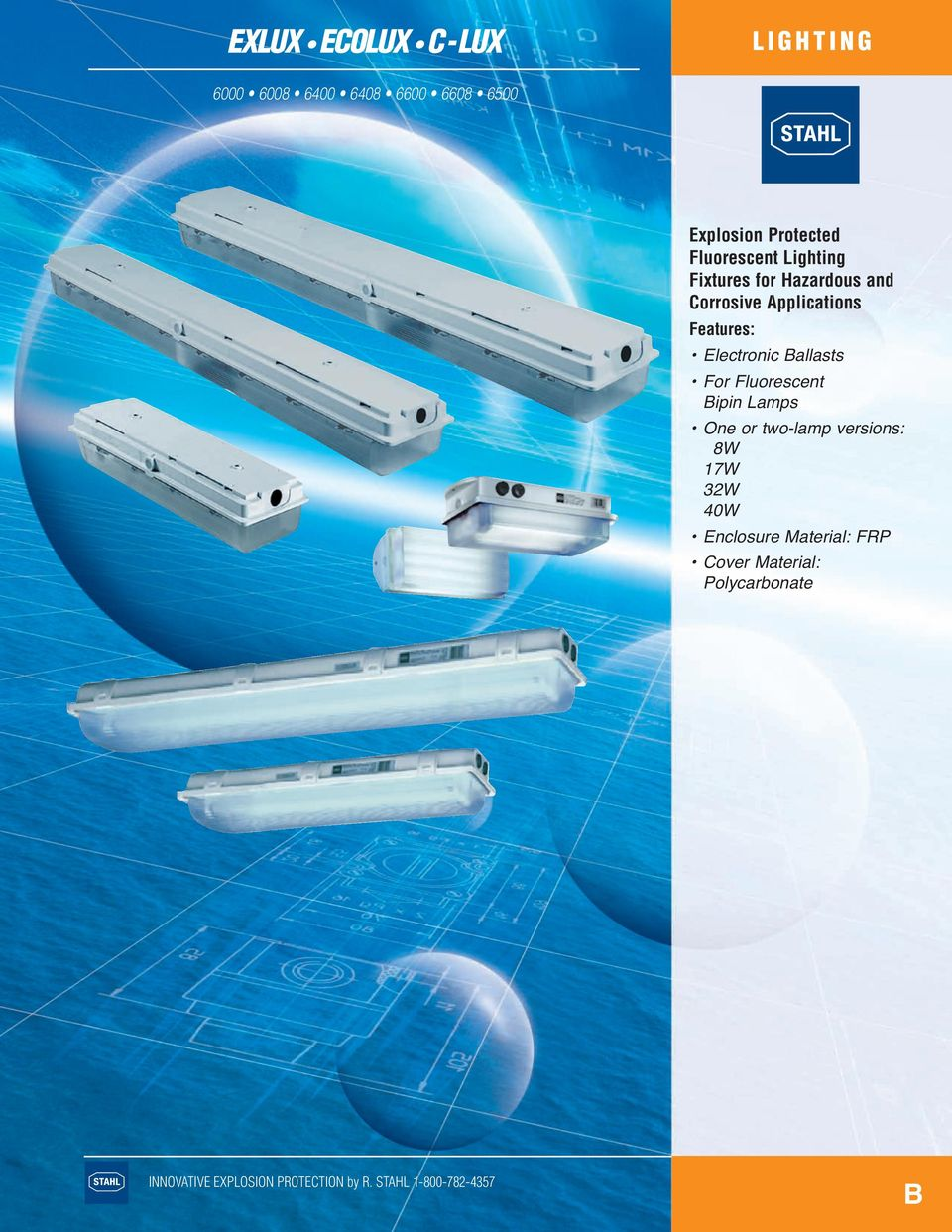 Applications Features: Electronic Ballasts For Fluorescent Bipin Lamps One