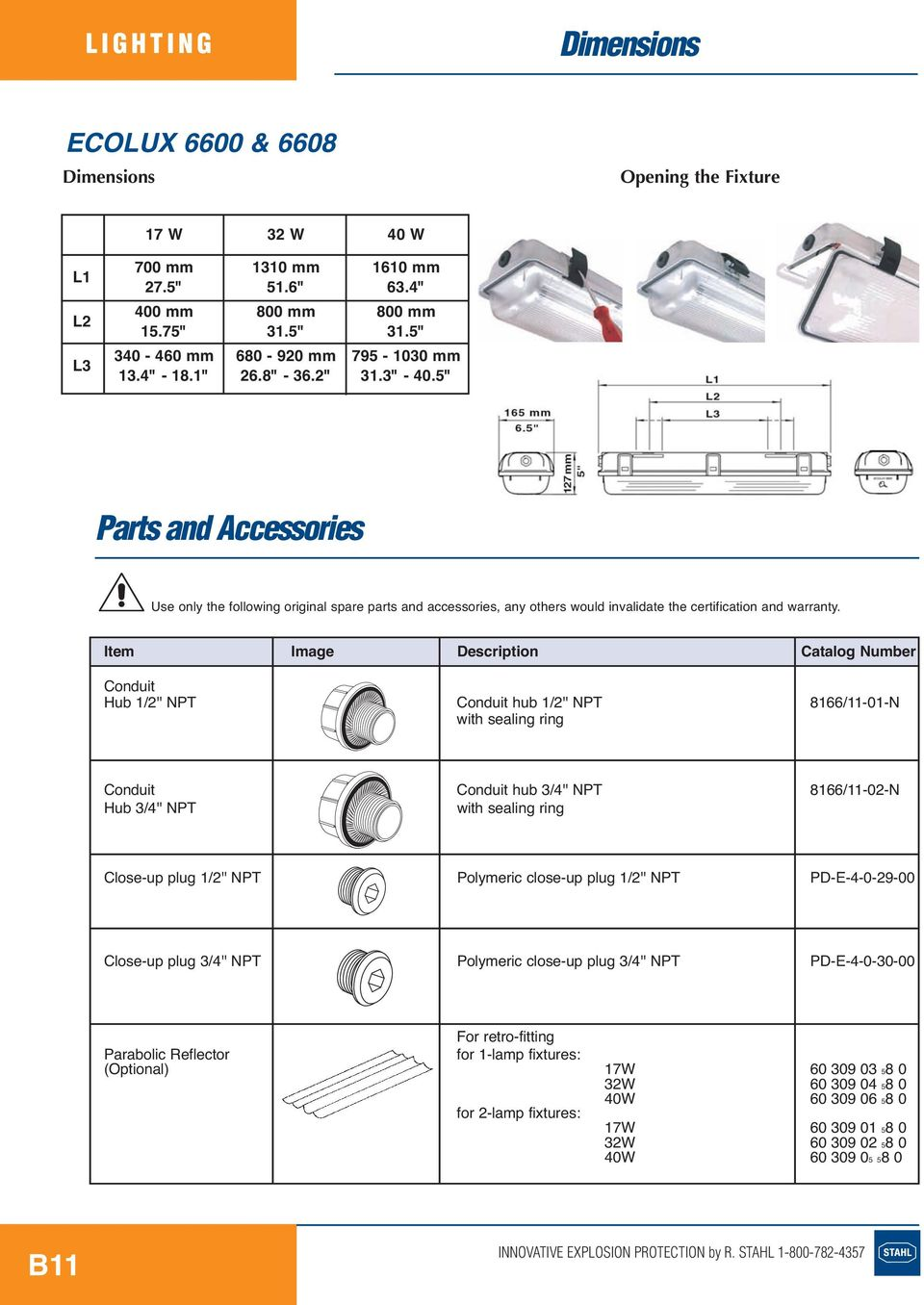"5"" Parts and Accessories Use only the following original spare parts and accessories, any others would invalidate the certification and warranty."