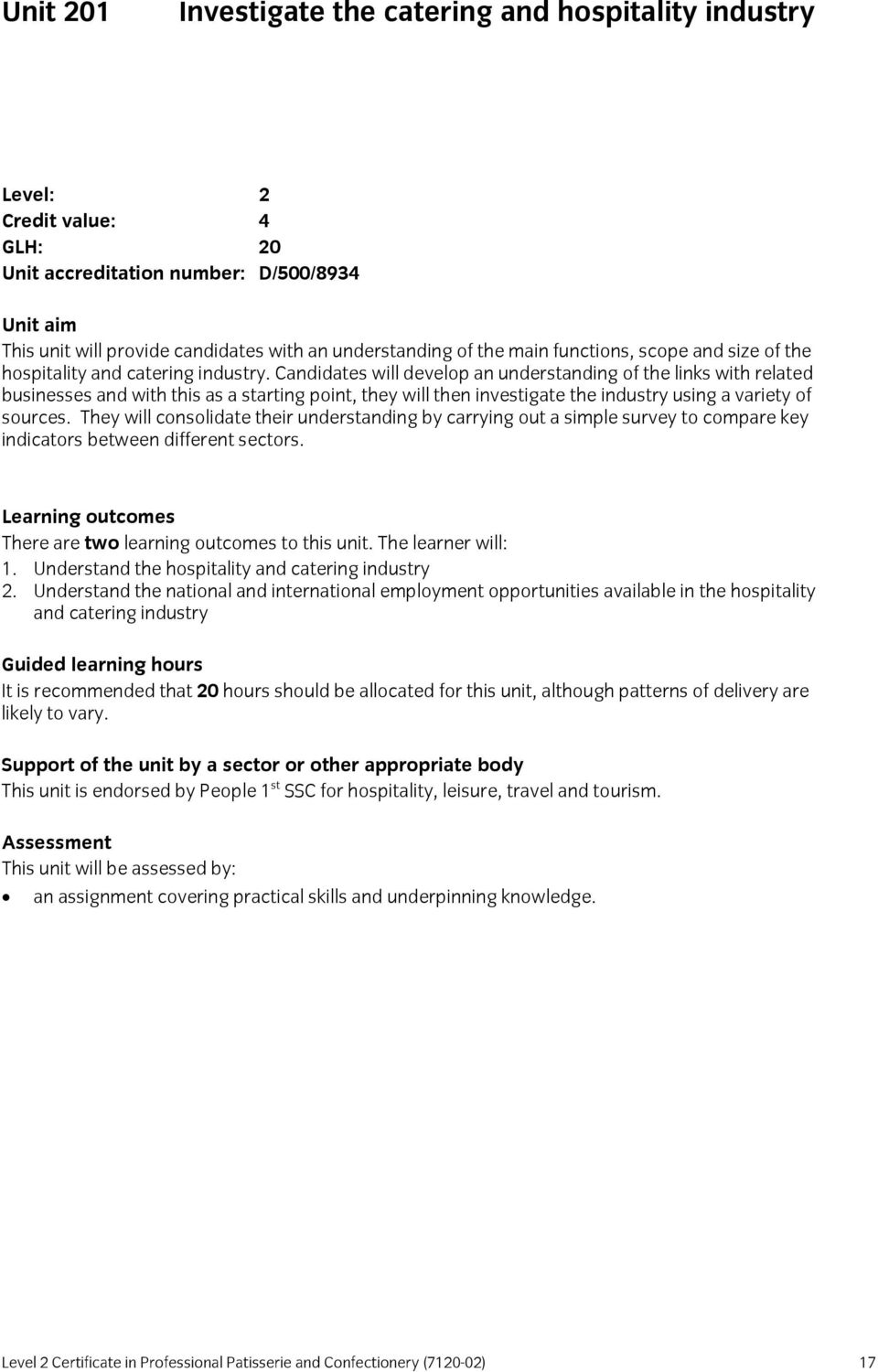 structure scope and size of the hospitality and catering industry