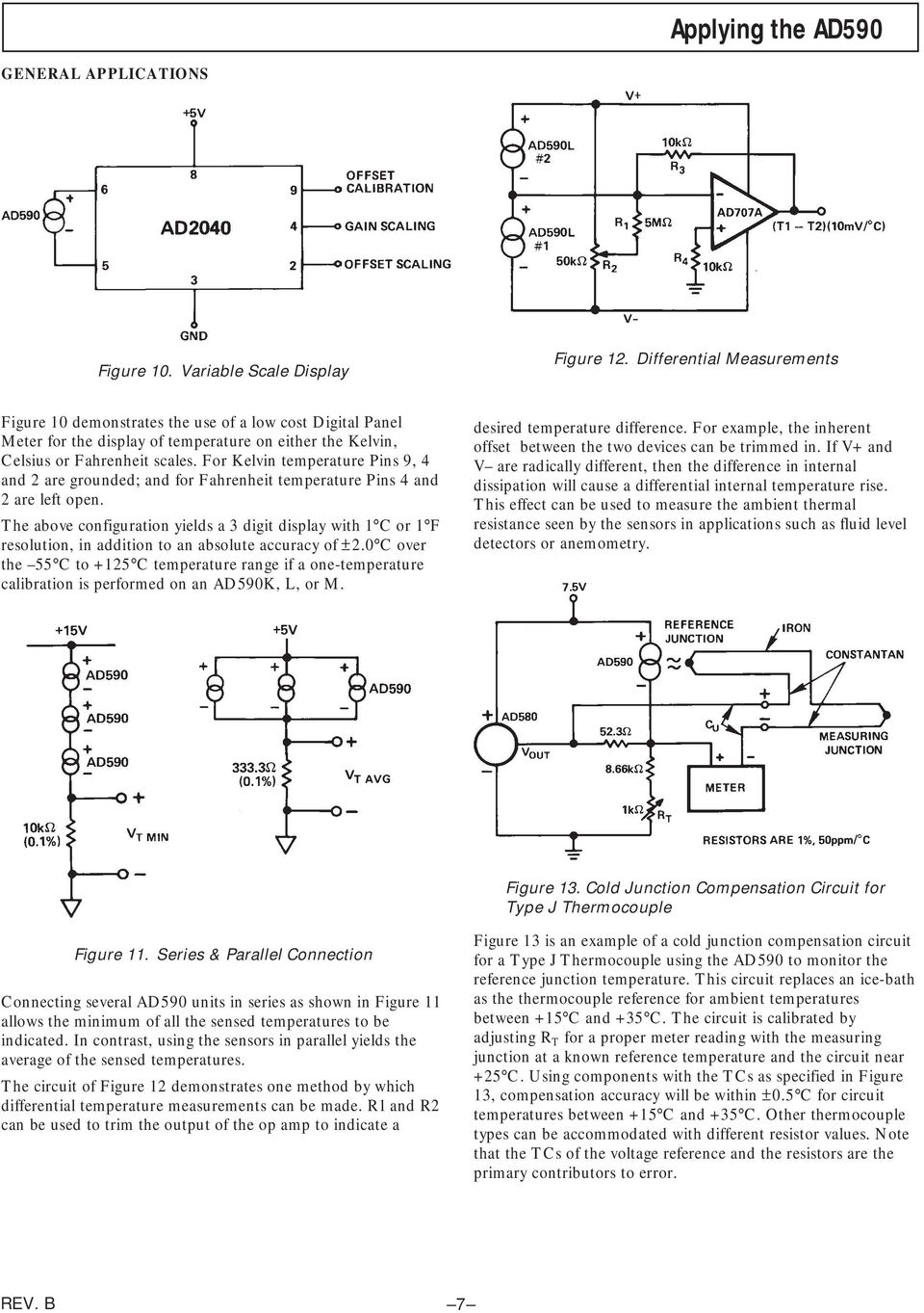 Two Terminal Ic Temperature Transducer Ad590 Pdf The Lm3914 Is A Monolithic Integrated Circuit That Senses Analog For Kelvin Pins 9 4 And 2 Are Grounded Fahrenheit