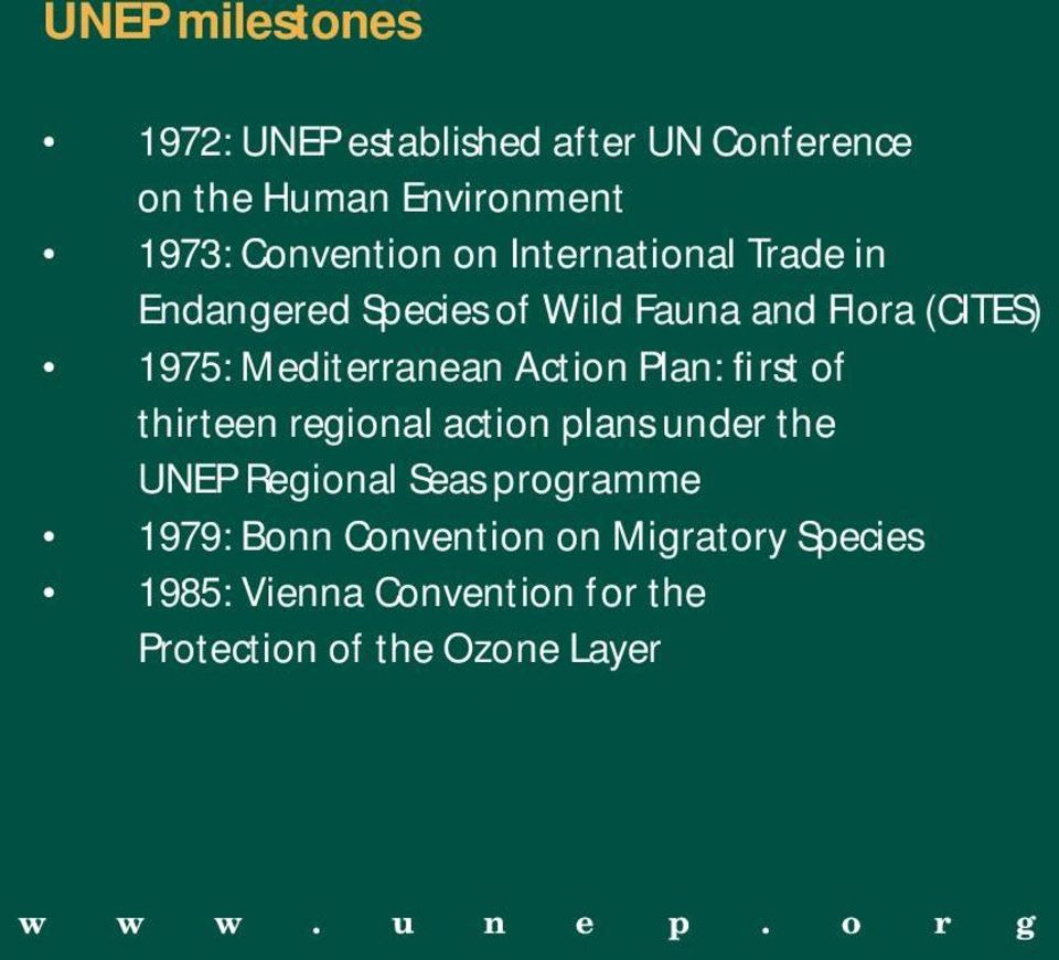 Plan: first of thirteen regional action plans under the UNEP Regional Seas programme 1979: Bonn