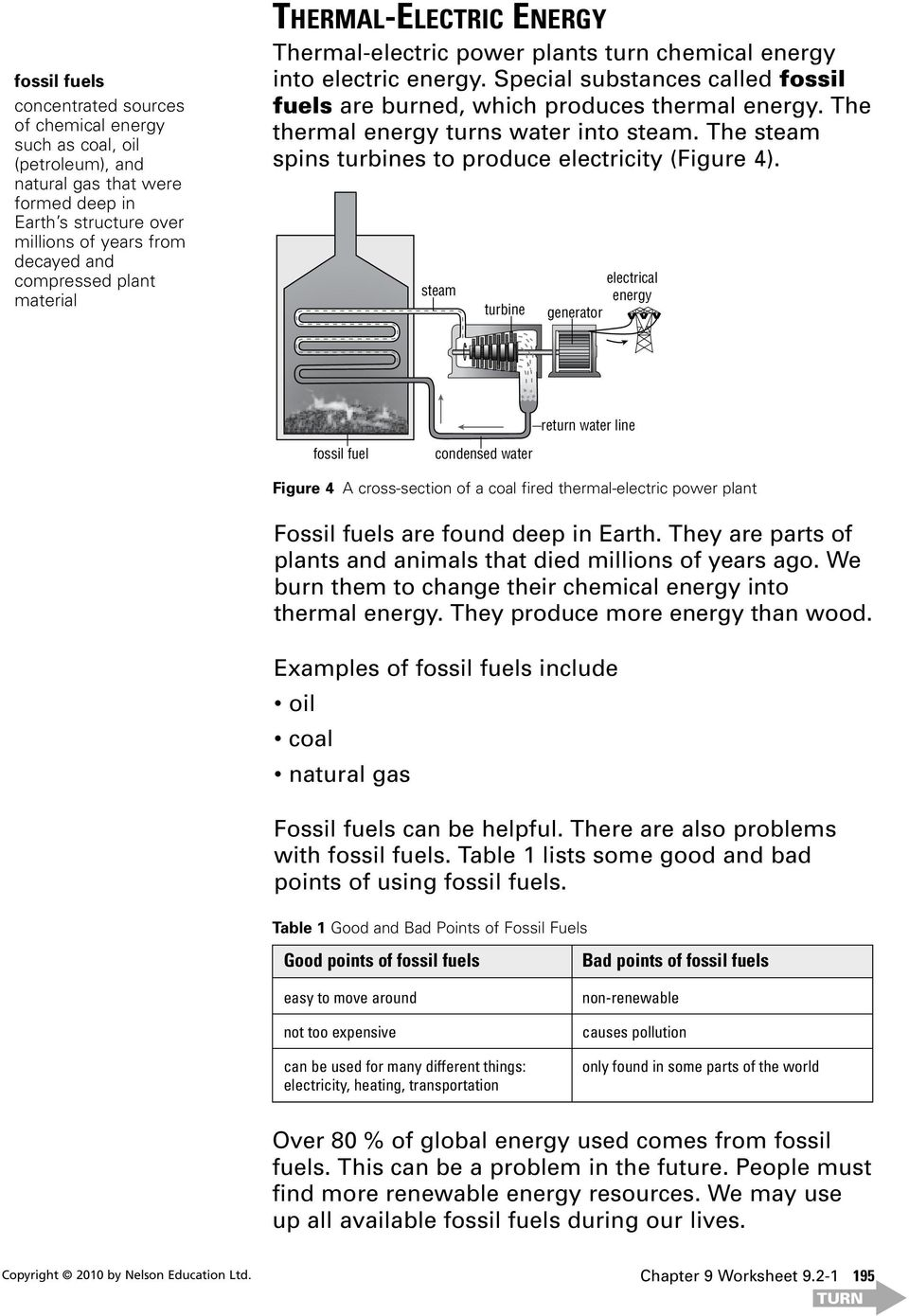 The thermal energy turns water into steam. The steam spins turbines to produce electricity (Figure 4).