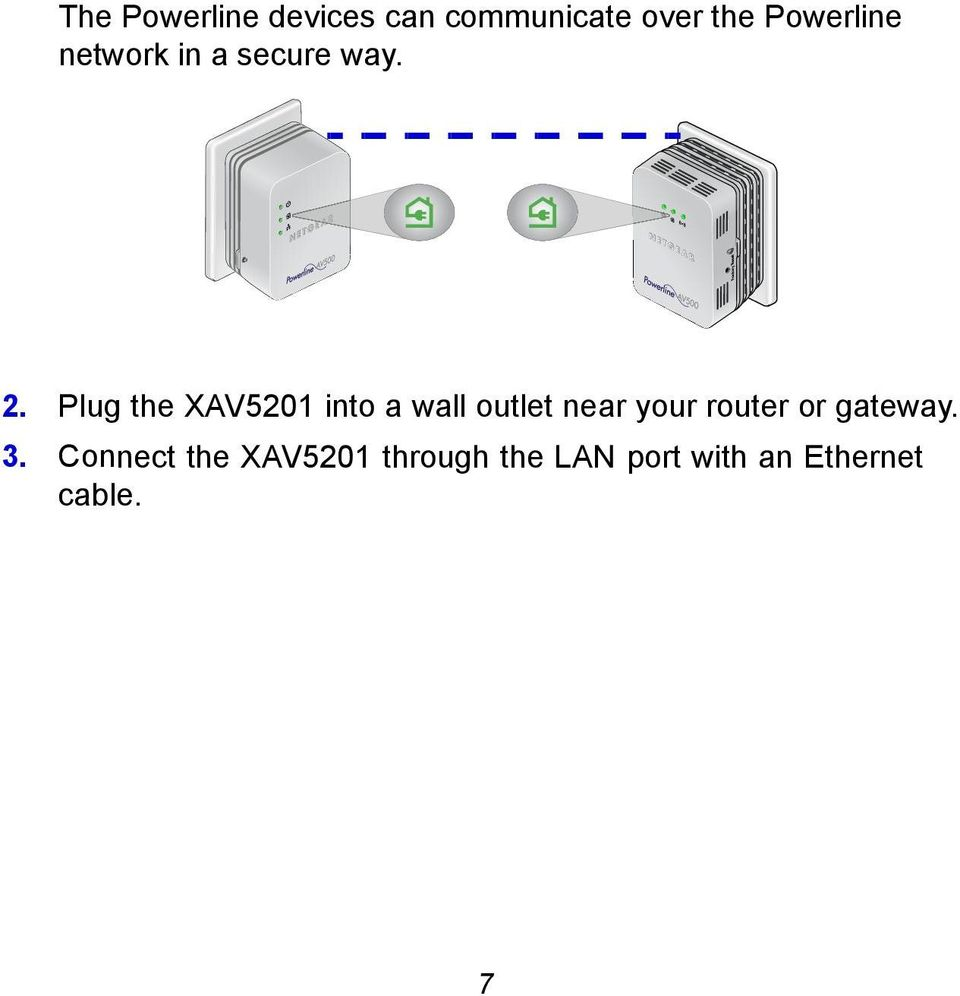 Plug the XAV5201 into a wall outlet near your router