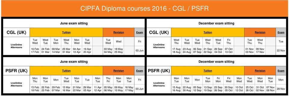 Nov 22 Nov PSFR (UK) Tuition PSFR (UK) Tuition 15 Feb 18 Feb 29 Feb 07 Mar 21 Mar 22 Mar 11 Apr