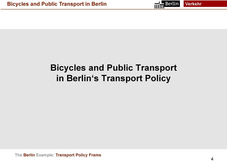 Transport Policy The