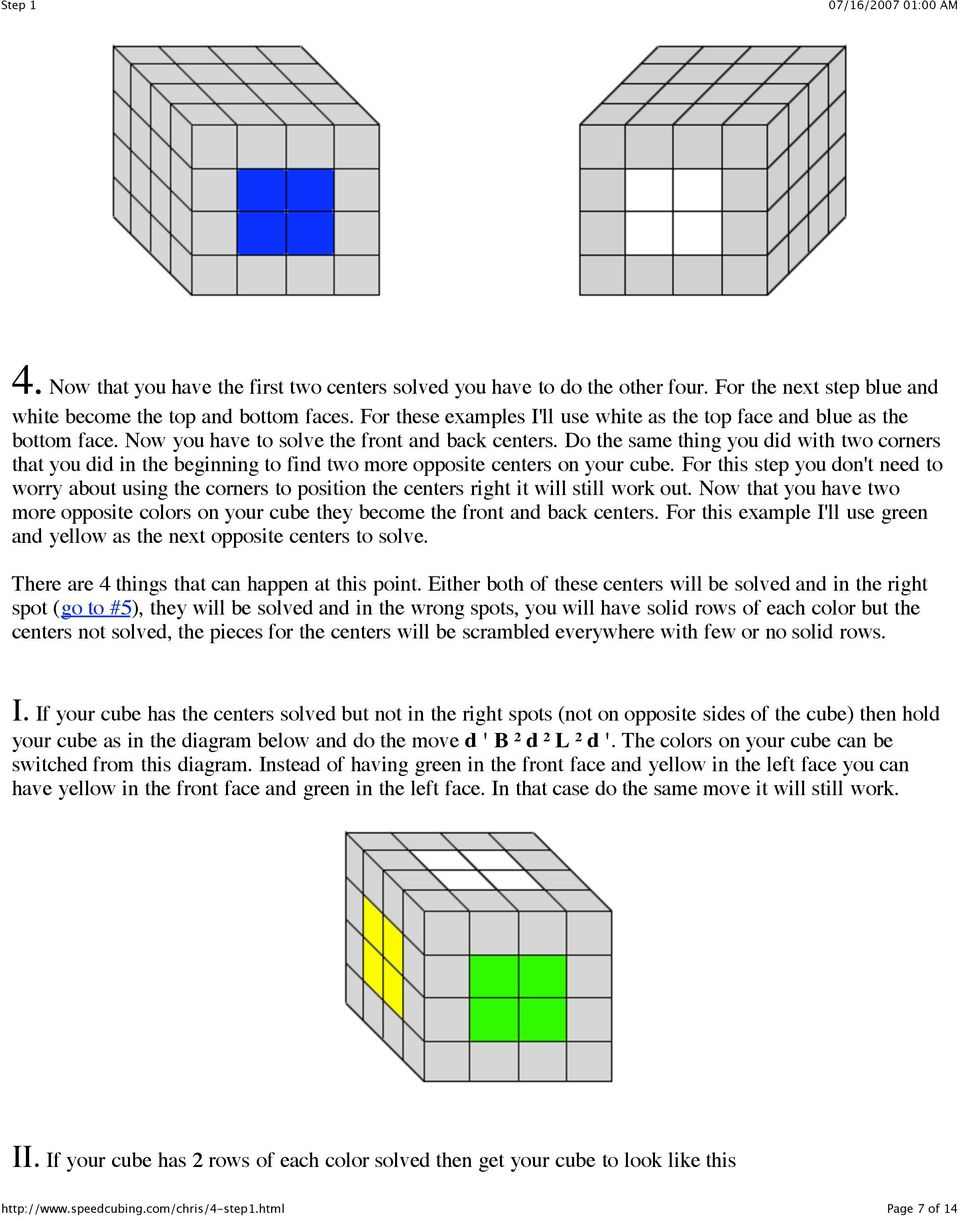 Do the same thing you did with two corners that you did in the beginning to find two more opposite centers on your cube.