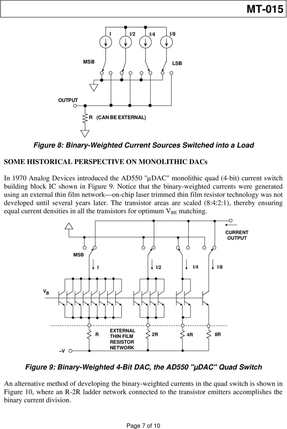 Basic Dac Architectures Ii Binary Dacs By Walt Kester Pdf Working Of 4 Bit R 2r Ladder D A Converter Circuit 1 Technical Notice That The Weighted Currents Were Generated Using An External Thin Film Network On