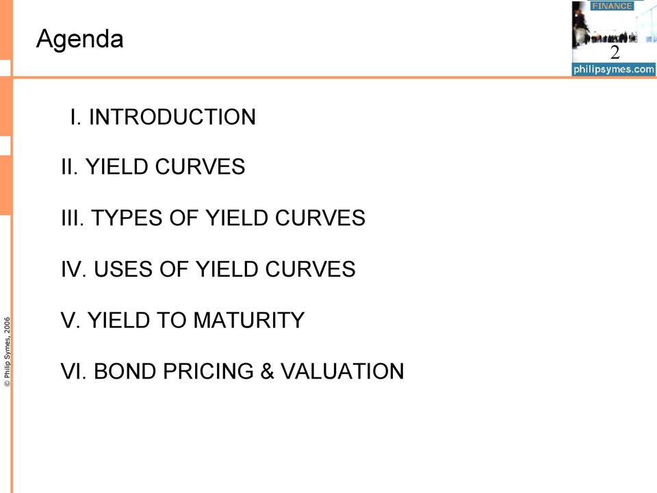 TYPES OF YIELD CURVES IV.