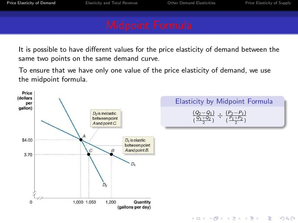To ensure that we have only one value of the price elasticity of demand, we use