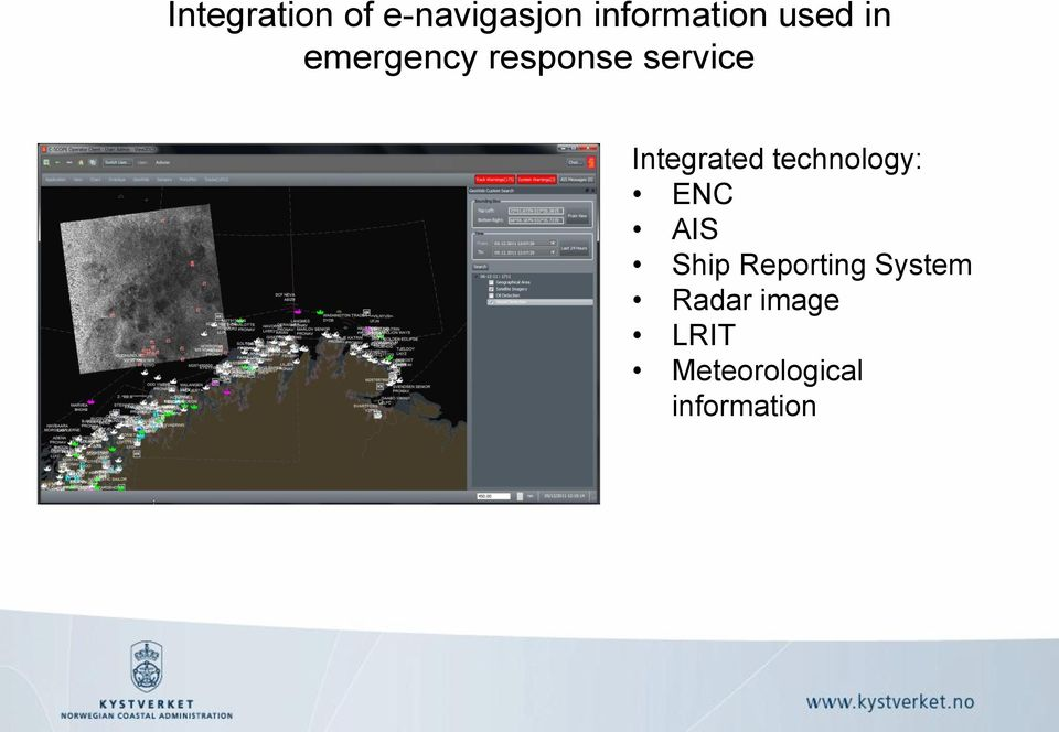 Integrated technology: ENC AIS Ship